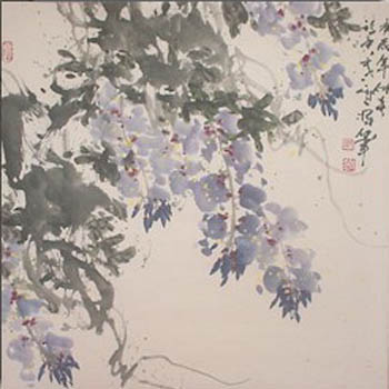 chinese scroll painting wisteria home d233cor