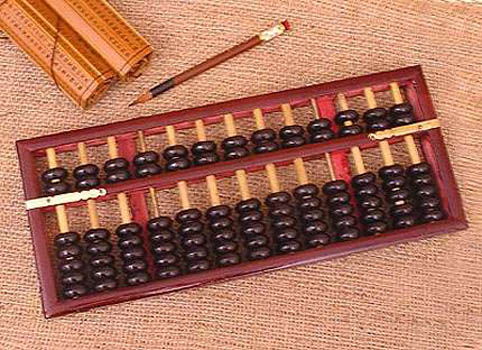 Chinese abacus suan pan toys board other games for Abacus cuisine of china