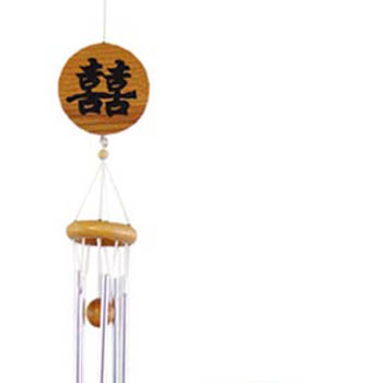 Wind Chimes With Chinese Character Xi Double Happiness