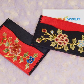 Embroidered silk business card holder chinese accessories women click colourmoves
