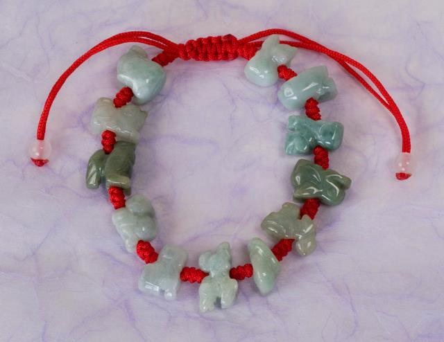 Zodiac Jade And Knotting Bracelet Chinese Accessories