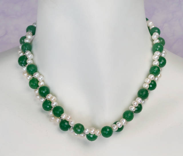Jade and pearl necklace chinese accessories jewelry jade for Pictures of jade jewelry