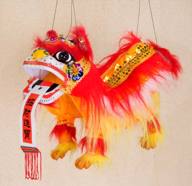 Lion String Puppet Arts Crafts Chinese New Year New Year