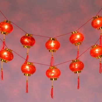 String Of Red Lantern Lights : 16 Chinese Palace Lantern String Lights Arts & Crafts Chinese New Year New Year Lanterns