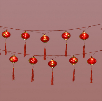 16 Good Luck Lantern String Lights Arts & Crafts Chinese New Year New Year Lanterns