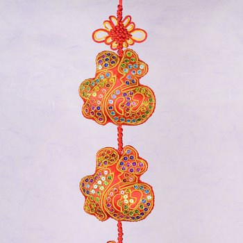 Embroidered Good Luck Wall Hangings Arts Crafts Chinese New Year New Year Decorations
