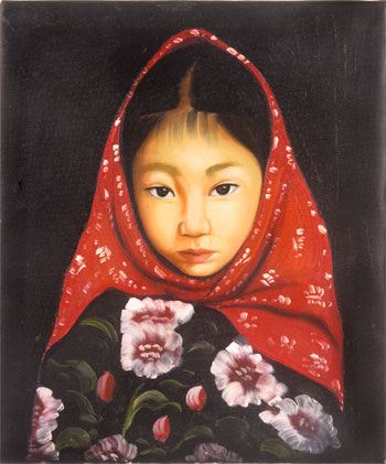 Oil Painting - Red Scarf Girl | Home Décor | Paintings ...