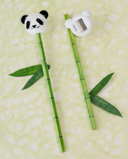 Bamboo pencil and panda sharpener arts crafts stationery for Bamboo arts and crafts