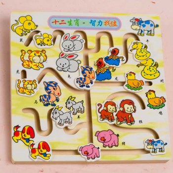 Zodiac Wooden Maze Puzzle   Toys   Board & Other Games