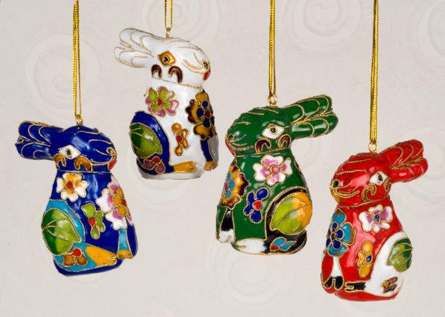 Cloisonne Rabbit Ornament | Home Décor | Christmas | Ornaments