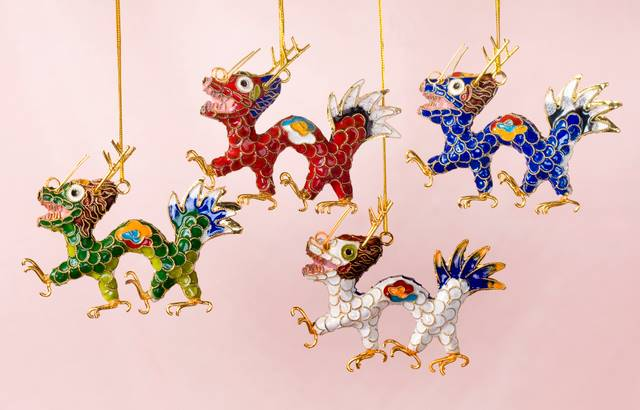 Cloisonne Dragon Ornament | Home Décor | Christmas | Ornaments
