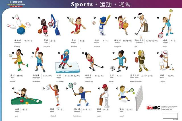 Illustrated Chinese-English Vocabulary Posters | Chinese Books ...