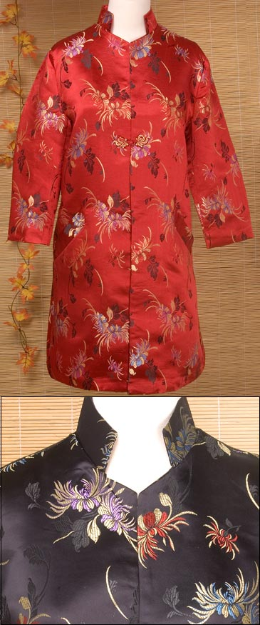 Chrysanthemum Brocade Long Jacket Chinese Apparel