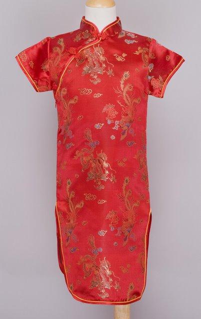 Dragon Phoenix Mandarin Dress Chinese Apparel Kids