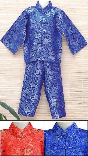 dragon mandarin suitspajama chinese apparel kids
