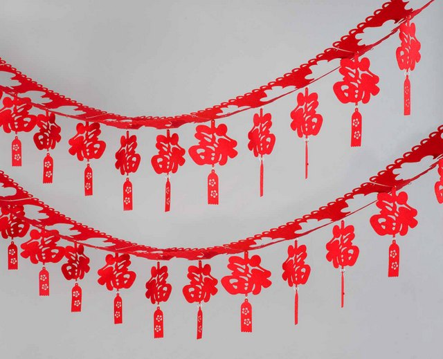 Good luck or double happiness wall hanging home d cor for Ang pao decoration