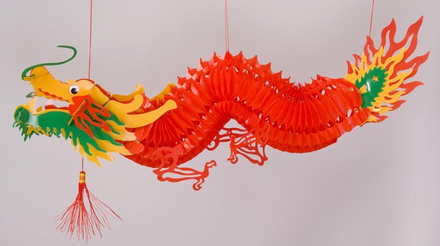 Plastic Dragon Cutout Hanging Arts Crafts Chinese