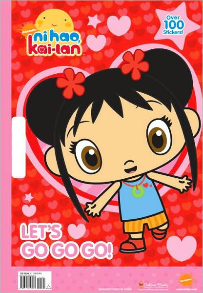 Ni Hao Kai Lan Sticker Books Toys Paper Dolls