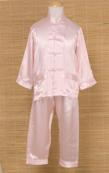 silk mandarin pajama chinese apparel kids pajamas